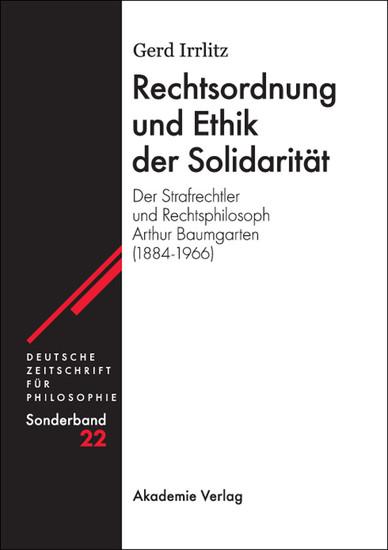 Rechtsordnung und Ethik der Solidarität - Blick ins Buch