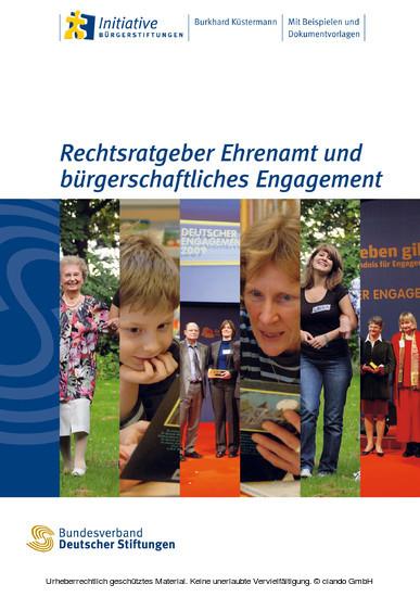 Rechtsratgeber Ehrenamt und bürgerschaftliches Engagement - Blick ins Buch