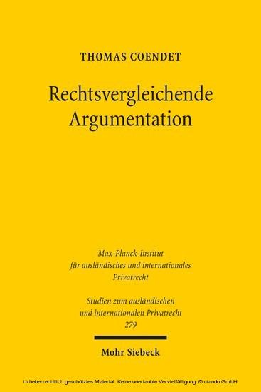Rechtsvergleichende Argumentation - Blick ins Buch