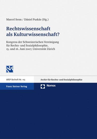 Rechtswissenschaft als Kulturwissenschaft - Blick ins Buch