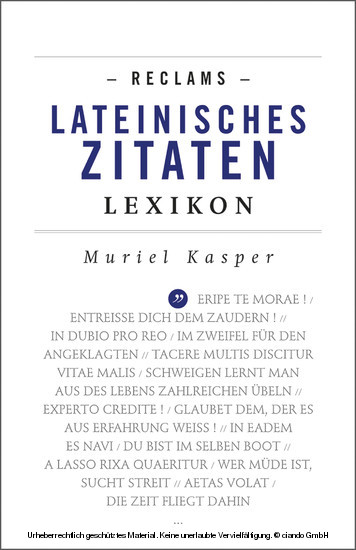 Reclams Lateinisches Zitaten-Lexikon - Blick ins Buch