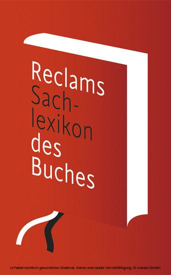 Reclams Sachlexikon des Buches - Blick ins Buch