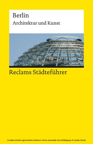 Reclams Städteführer Berlin - Blick ins Buch