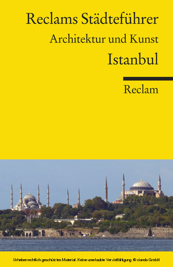 Reclams Städteführer Istanbul - Blick ins Buch