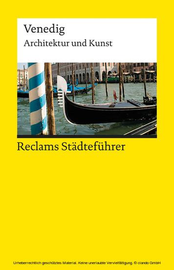Reclams Städteführer Venedig - Blick ins Buch