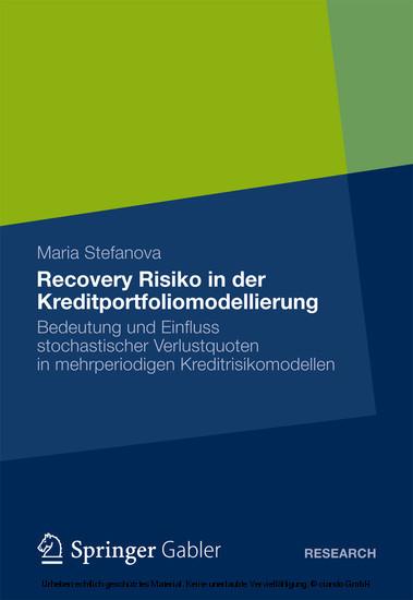 Recovery Risiko in der Kreditportfoliomodellierung - Blick ins Buch