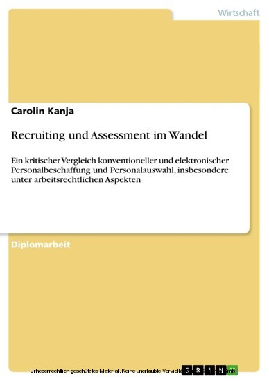 Recruiting und Assessment im Wandel - Blick ins Buch