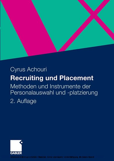 Recruiting und Placement - Blick ins Buch