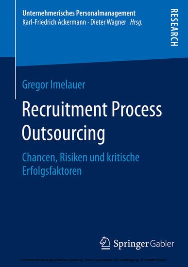 Recruitment Process Outsourcing - Blick ins Buch