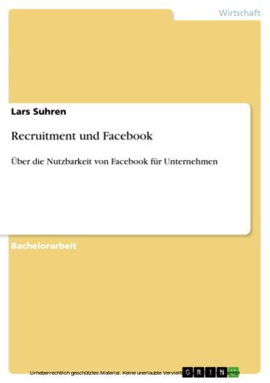 Recruitment und Facebook - Blick ins Buch