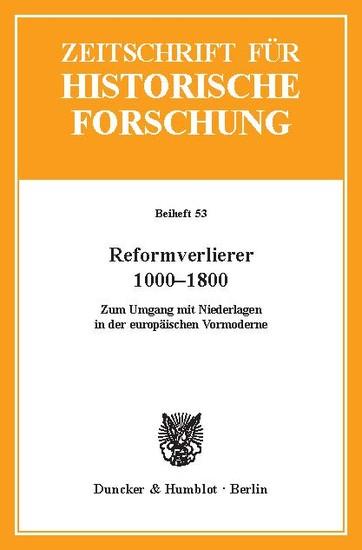 Reformverlierer 1000-1800. - Blick ins Buch