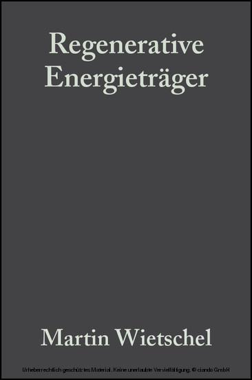 Regenerative Energieträger - Blick ins Buch