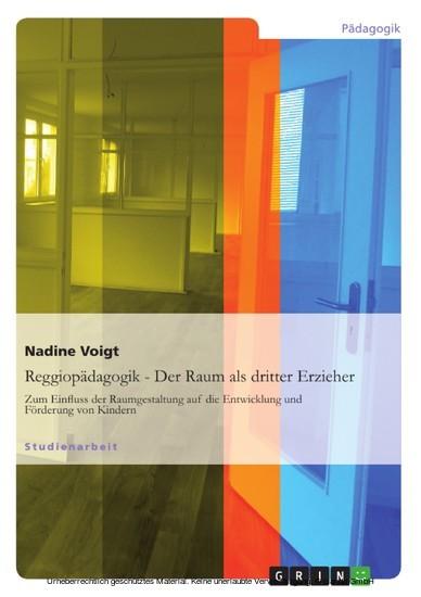 Reggiopädagogik - Der Raum als dritter Erzieher - Blick ins Buch
