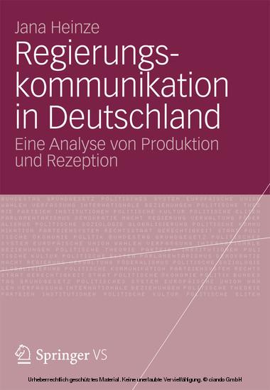 Regierungskommunikation in Deutschland - Blick ins Buch