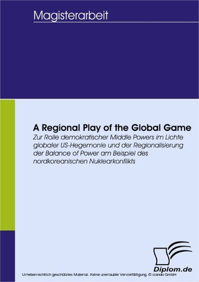 A Regional Play of the Global Game - Blick ins Buch