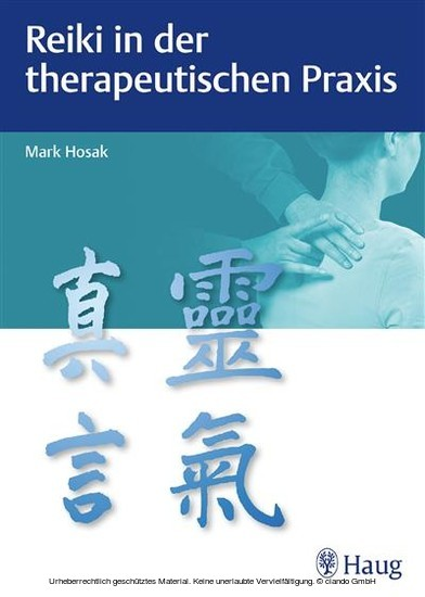 Reiki in der therapeutischen Praxis - Blick ins Buch