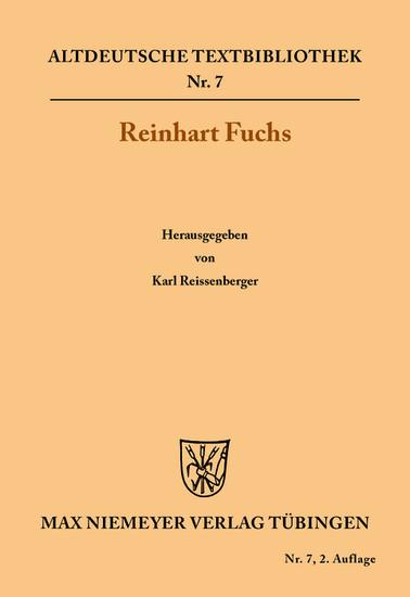 Reinhart Fuchs - Blick ins Buch