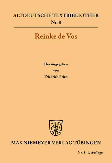 Reinke de Vos - Blick ins Buch