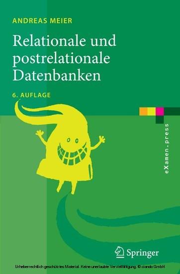Relationale und postrelationale Datenbanken - Blick ins Buch