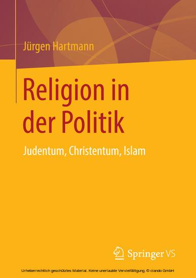 Religion in der Politik - Blick ins Buch
