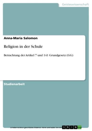 Religion in der Schule - Blick ins Buch