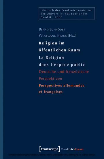 Religion im öffentlichen Raum / La Religion dans l'espace public - Blick ins Buch