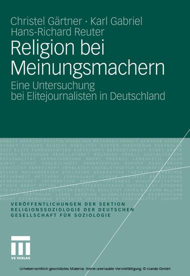 Religion bei Meinungsmachern - Blick ins Buch