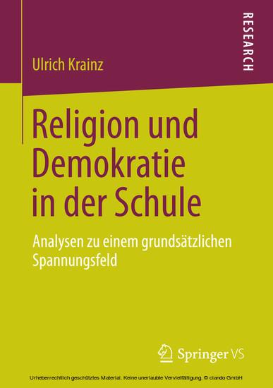 Religion und Demokratie in der Schule - Blick ins Buch