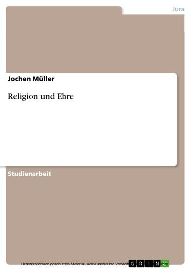 Religion und Ehre - Blick ins Buch