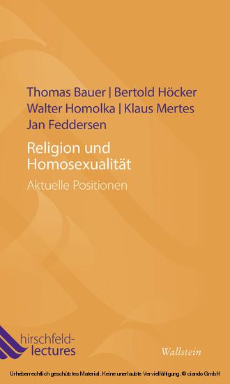 Religion und Homosexualität - Blick ins Buch