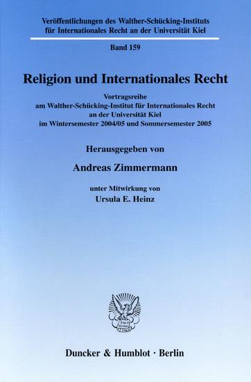 Religion und Internationales Recht. - Blick ins Buch