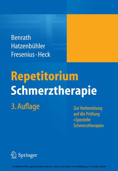 Repetitorium Schmerztherapie - Blick ins Buch