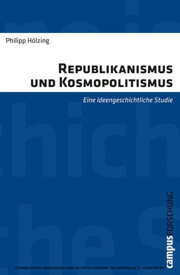 Republikanismus und Kosmopolitismus - Blick ins Buch