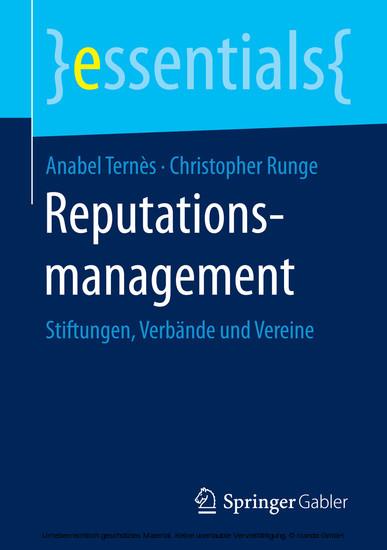 Reputationsmanagement - Blick ins Buch