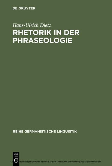 Rhetorik in der Phraseologie - Blick ins Buch