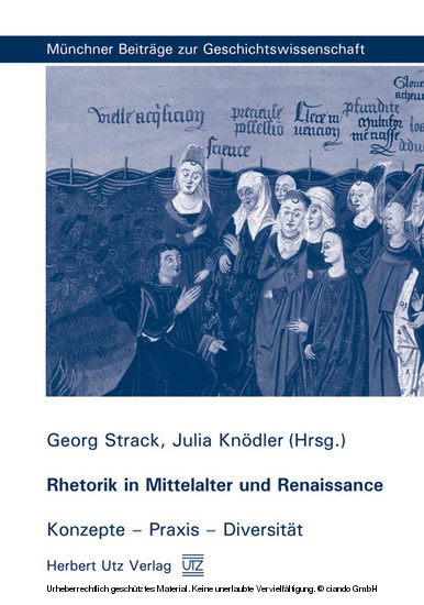 Rhetorik in Mittelalter und Renaissance - Blick ins Buch