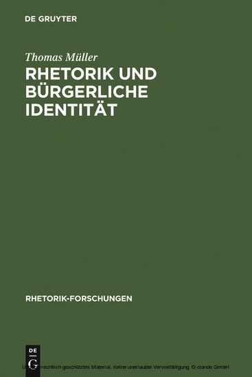 Rhetorik und bürgerliche Identität - Blick ins Buch