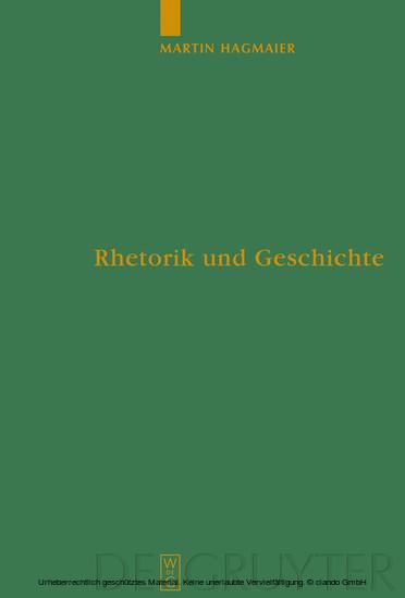 Rhetorik und Geschichte - Blick ins Buch