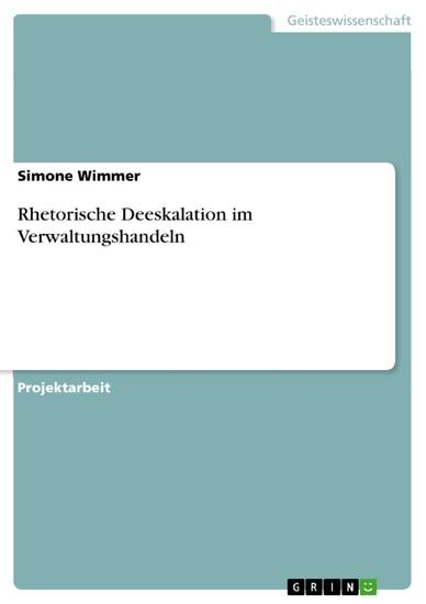Rhetorische Deeskalation im Verwaltungshandeln - Blick ins Buch