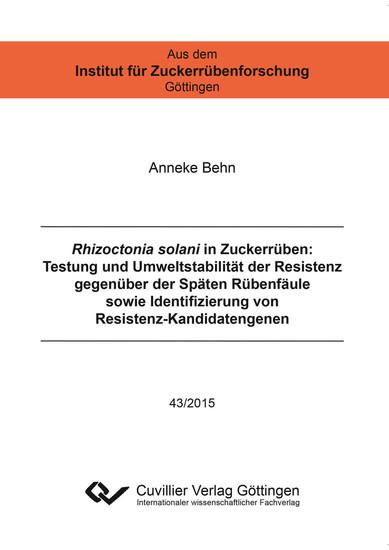 Rhizoctonia solani in Zuckerrüben - Blick ins Buch