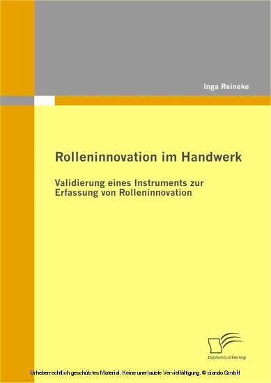 Rolleninnovation im Handwerk - Blick ins Buch