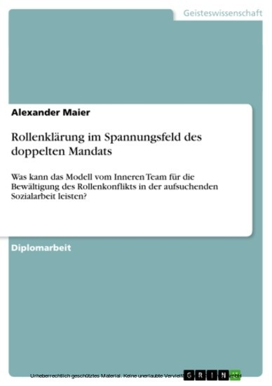 Rollenklärung im Spannungsfeld des doppelten Mandats - Blick ins Buch