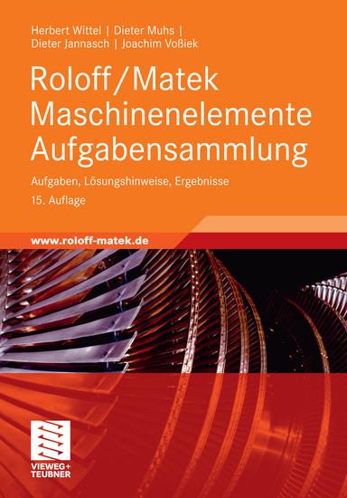 Roloff/Matek Maschinenelemente Aufgabensammlung - Blick ins Buch