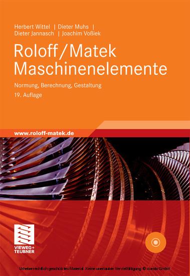 Roloff/Matek Maschinenelemente - Blick ins Buch