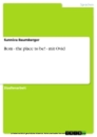 Rom - the place to be! - mit Ovid - Blick ins Buch