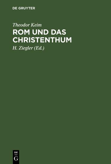 Rom und das Christenthum - Blick ins Buch