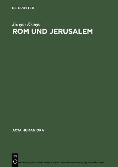 Rom und Jerusalem - Blick ins Buch