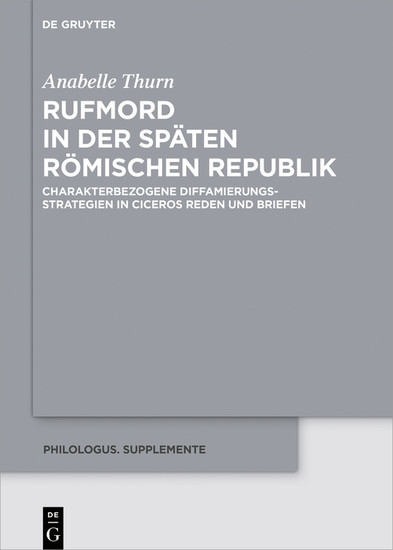 Rufmord in der späten römischen Republik - Blick ins Buch