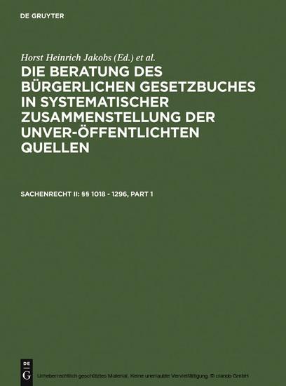 Sachenrecht II: §§ 1018 - 1296 - Blick ins Buch