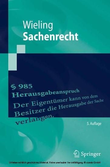 Sachenrecht - Blick ins Buch